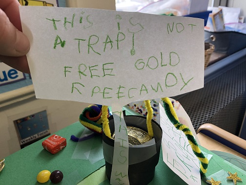 Leperachaun Traps created by Ms. Monica's class