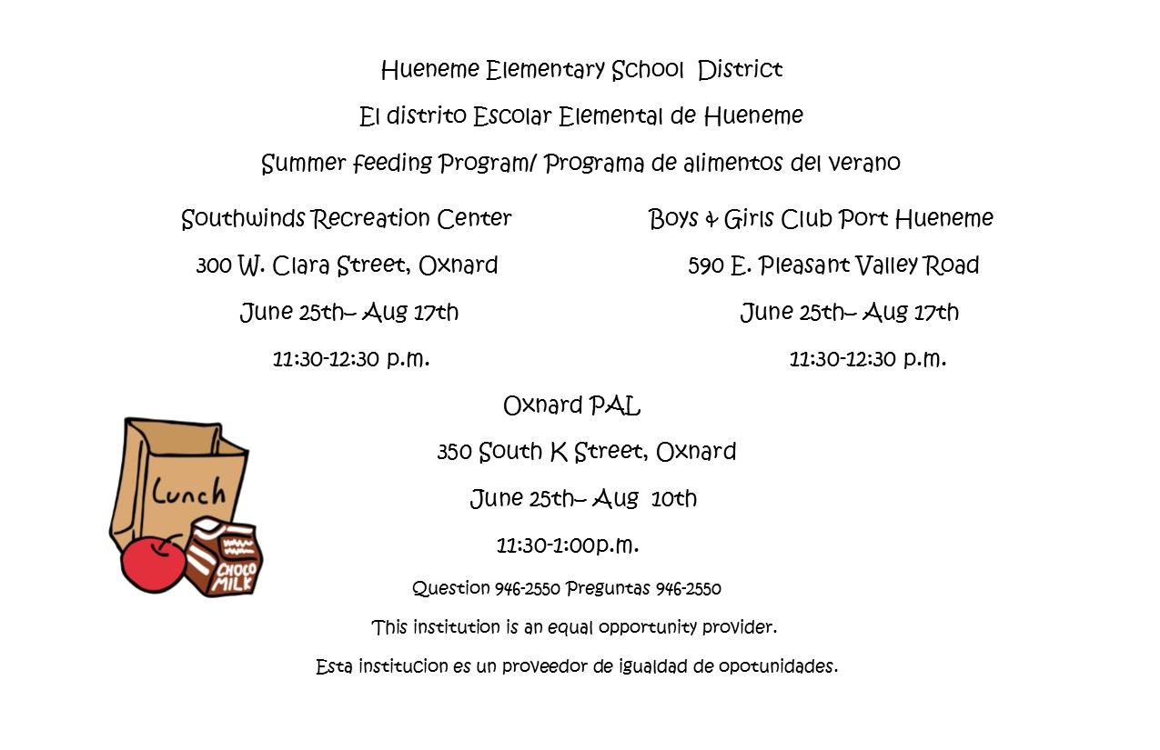 2018 Summer Feeding Program