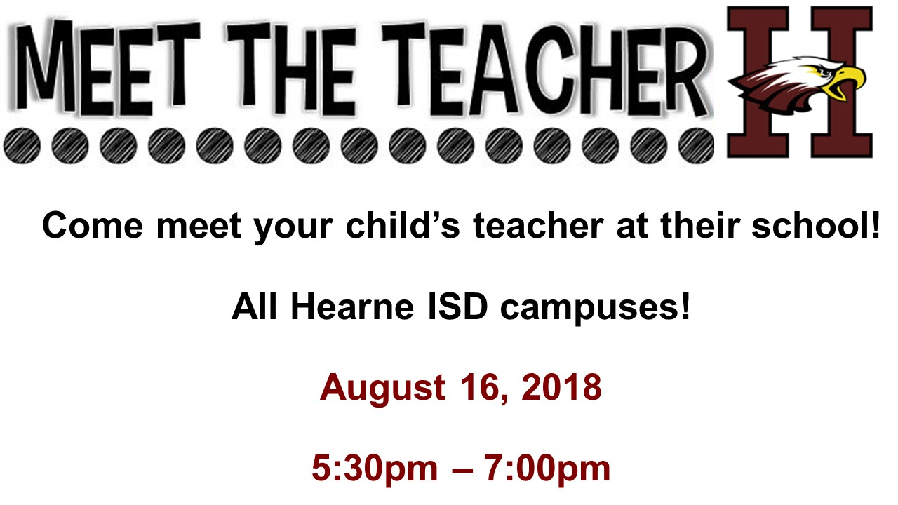 Meet the Teacher - August 16, 2018 5:30 PM - 7:00 PM