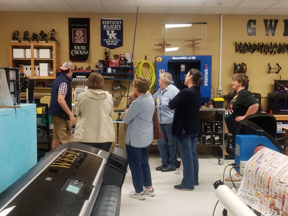 Shepherds Center Visit to West's Simulated Workplace Businesses