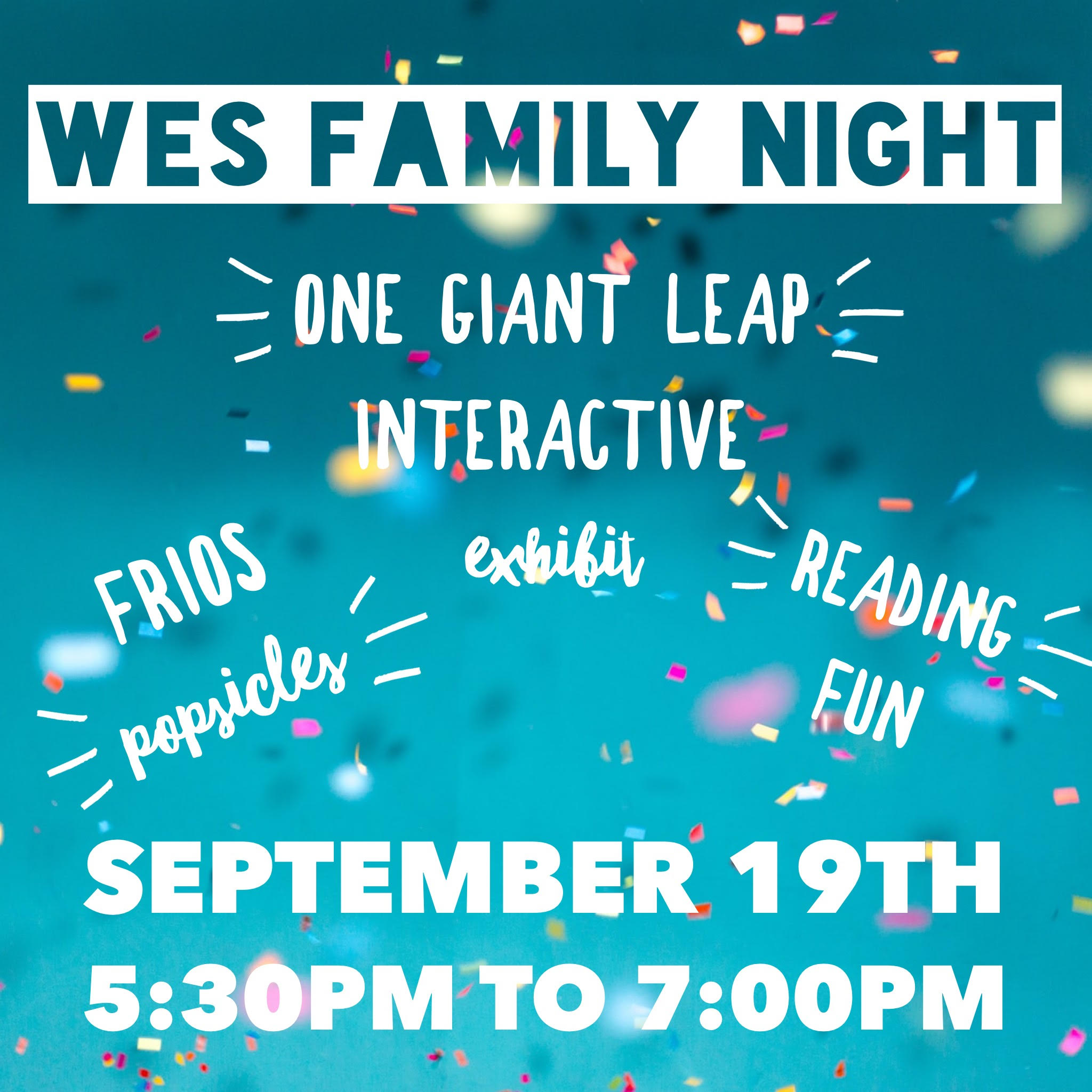 Please join us for Western Family Night!