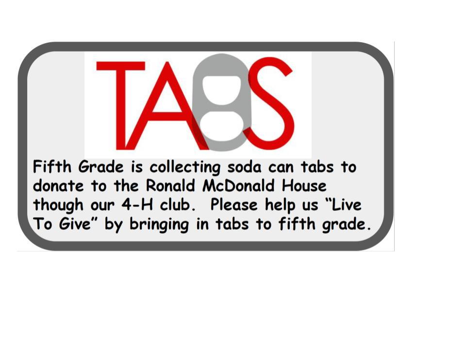 Please Help Fifth Grade Collect Soda Can Tabs