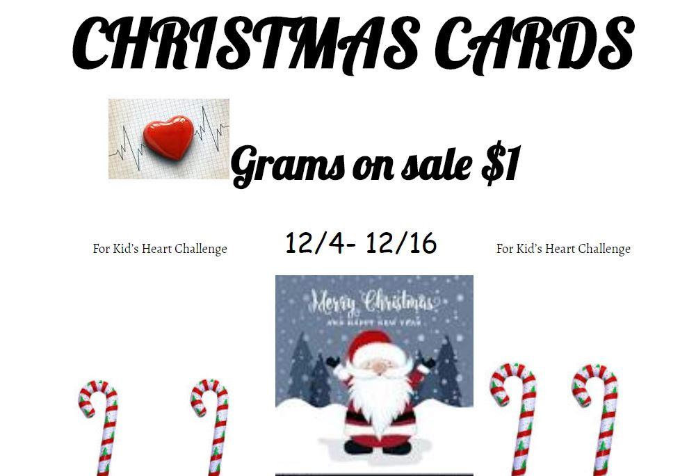 Christmas Grams On Sale 12/4 to 12/16
