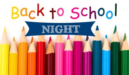Back to School is on Thursday, 9-21-2017