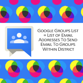 Google Groups - Email Distribution Lists
