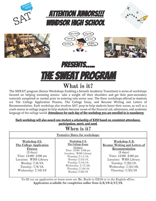 Current HS Juniors, apply to SWEAT this July