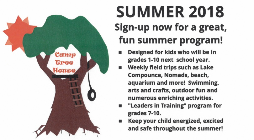 2018 Camp Tree House Registration Packet