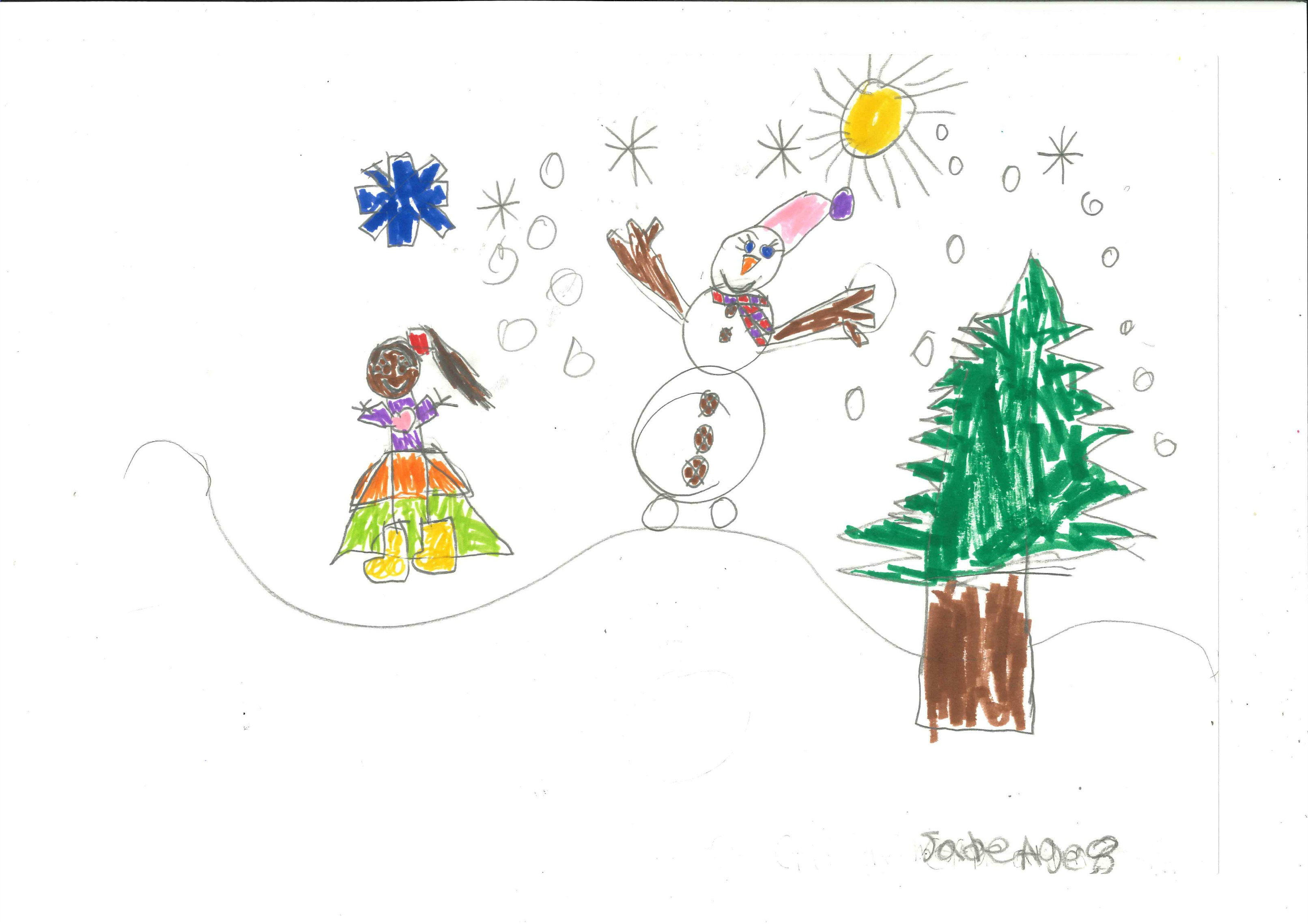 Tree House Students Create Winter Scenes For Hilton Garden