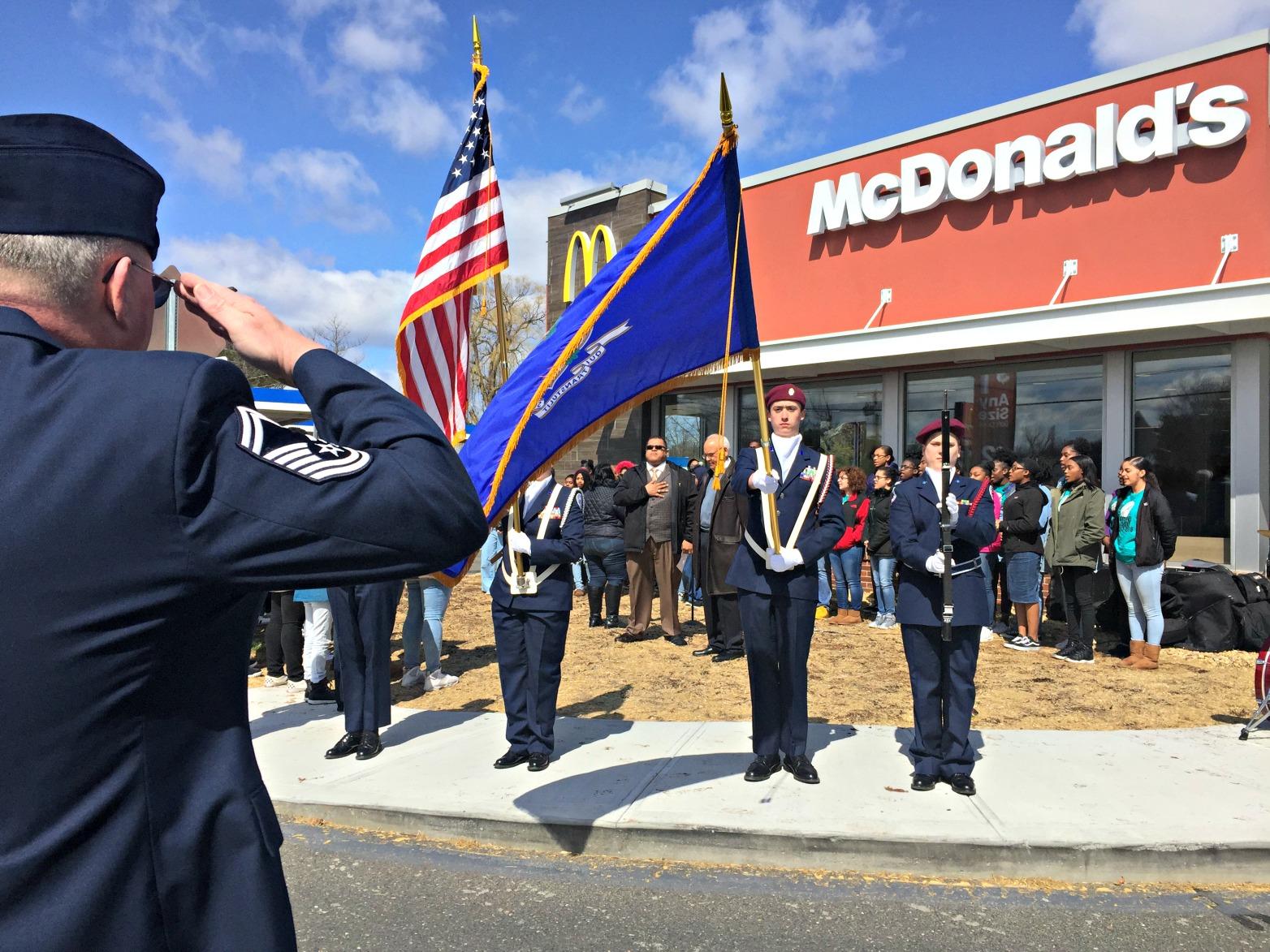 McDonald's Donates $3,000 to WHS Air Force JROTC Program
