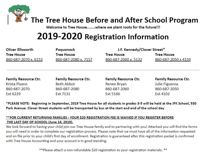 It's time to sign up for Before and After school care for the new school year (2019-20)