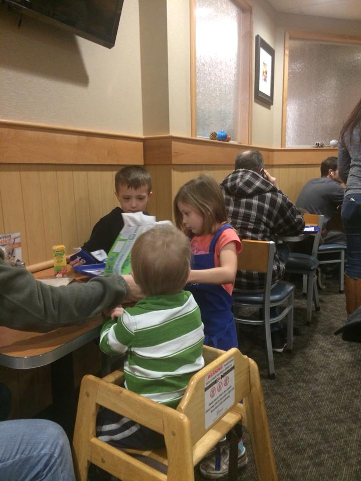 Brendel Family Night at culver's.  Thank you Culver's Staff and Management.