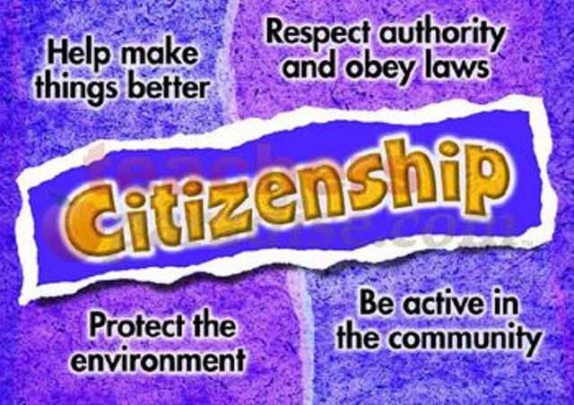 CHARACTER TRAIT OF THE MONTH: Citizenship