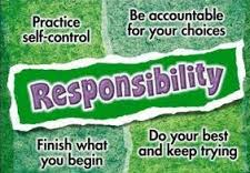 CHARACTER TRAIT OF THE MONTH: RESPONSIBILITY