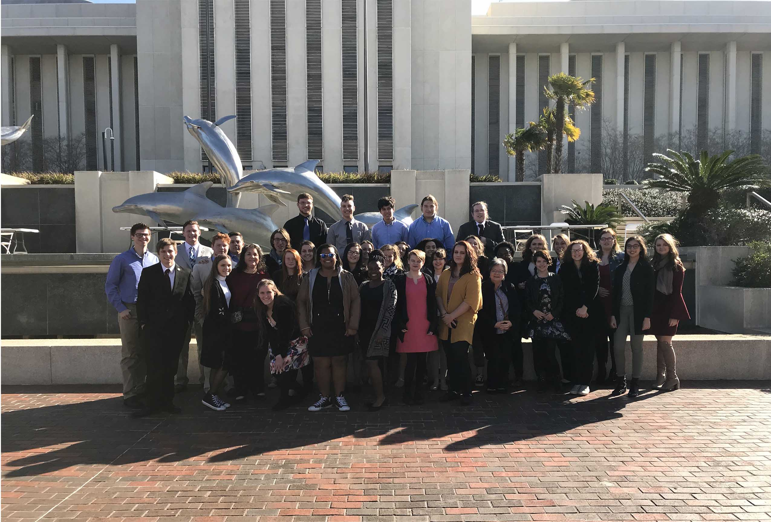 Mrs. Heeke's AP Government students traveled to the Governor's Mansion in Tallahassee.