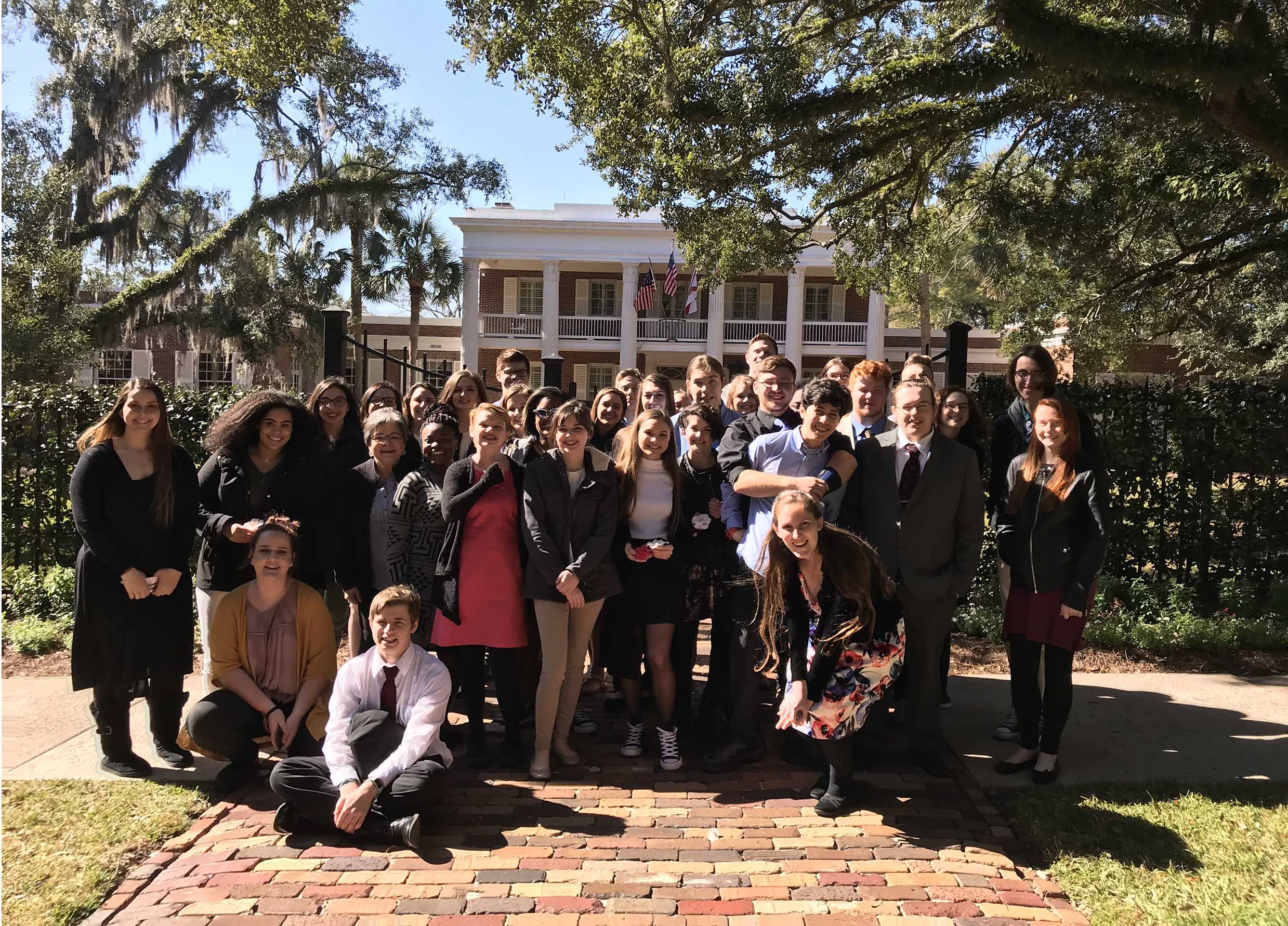 Mrs. Heeke's AP Government Classes at the Governor's Mansion in Tallahassee