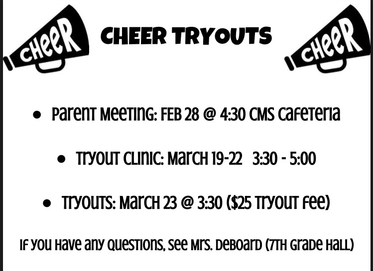 CMS Cheer tryouts