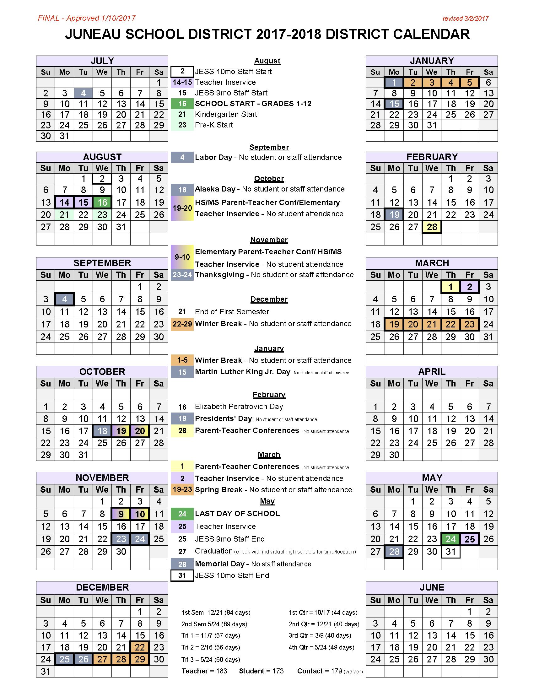 2017-18 Bass Calendar