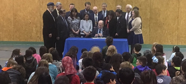 Gov Walker signs education bill at Harborview