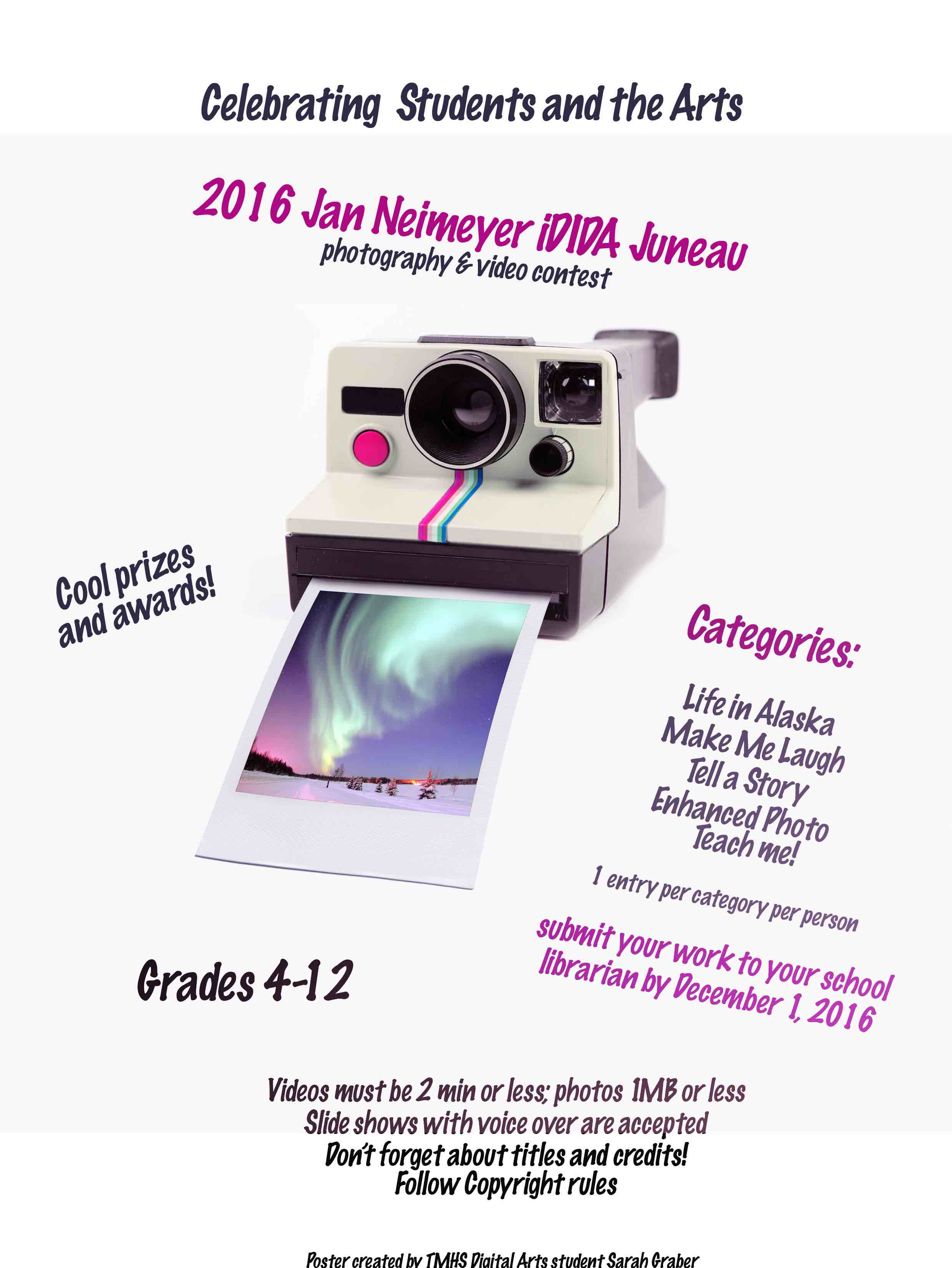 DEADLINE EXTENDED TO DEC 15! iDida Juneau Photo & Video Contest