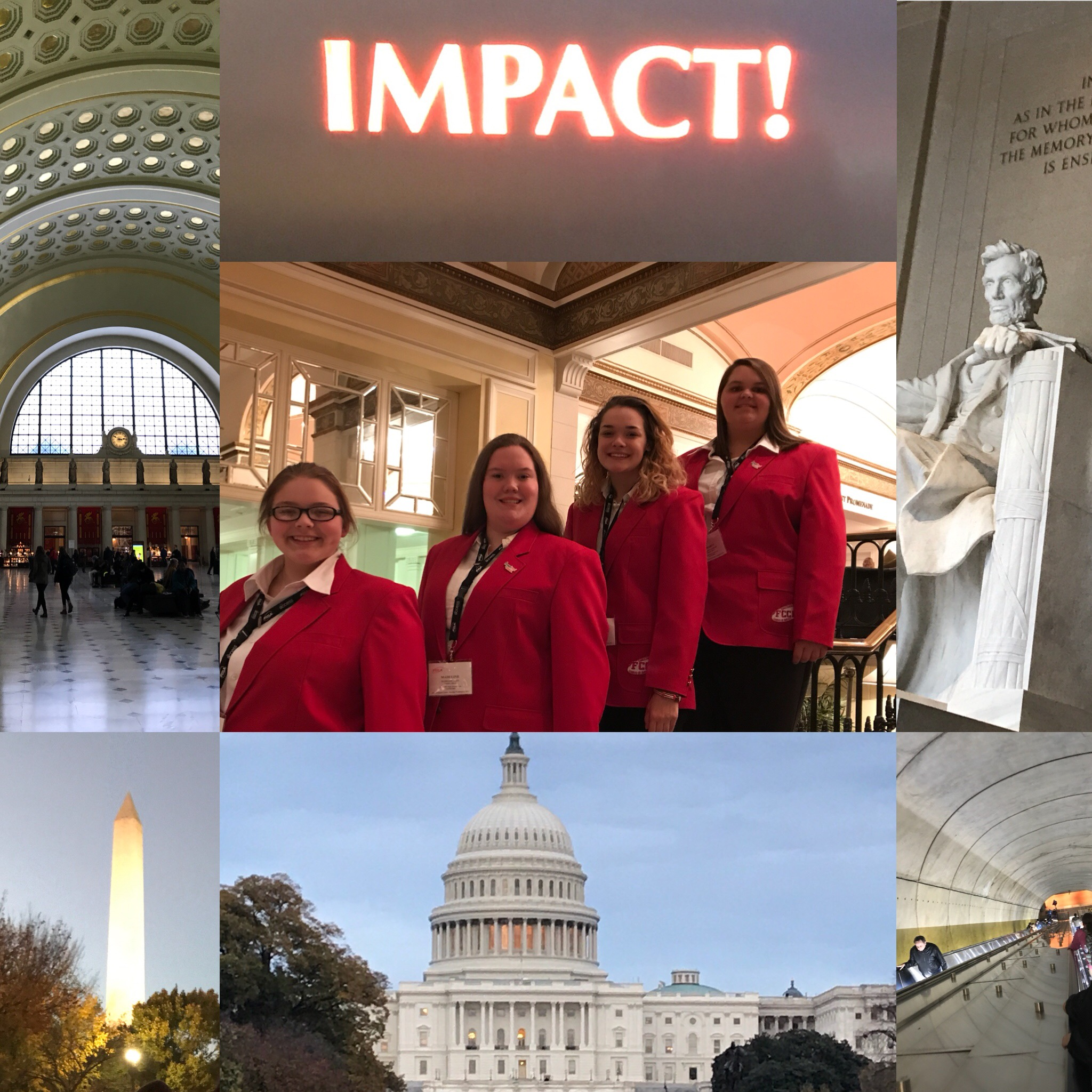 FCCLA Officers Attend National Cluster in Washington D.C.