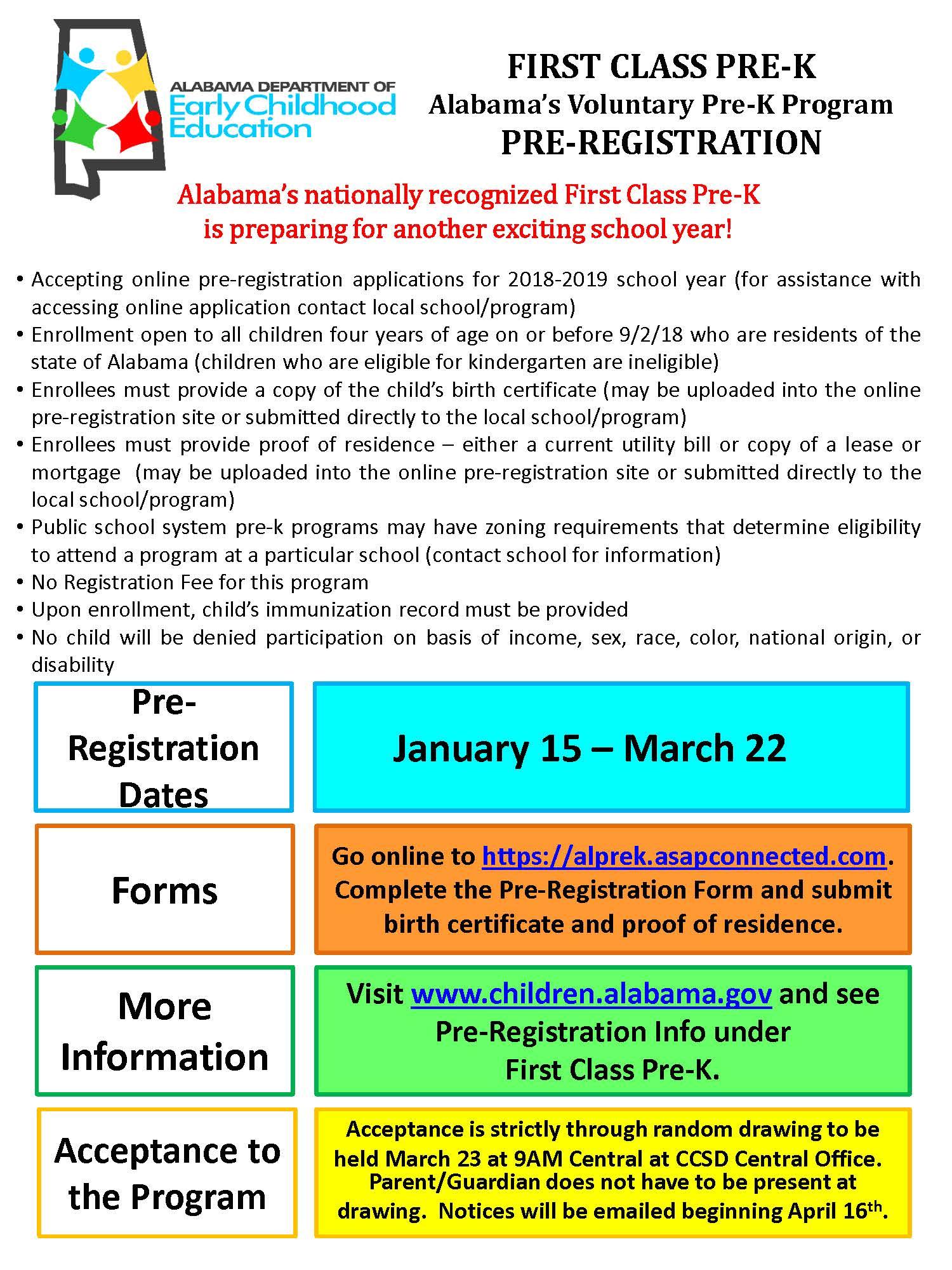 News chambers county pre k pre registration aiddatafo Choice Image