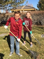 FIS students assist with clean up at Northern Nevada Veterans Cemetery