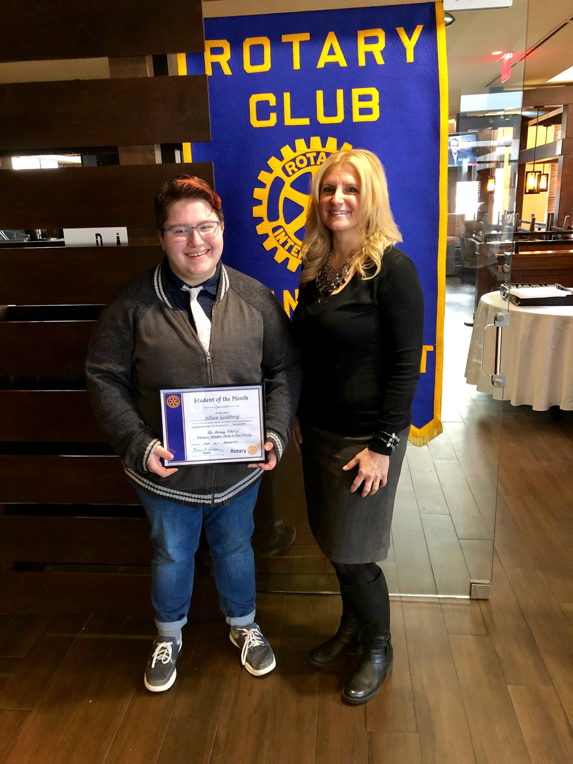 "a52255574b Windsor Chapter of Rotary International ""Student of the Month"" - Jill  Goldberg"