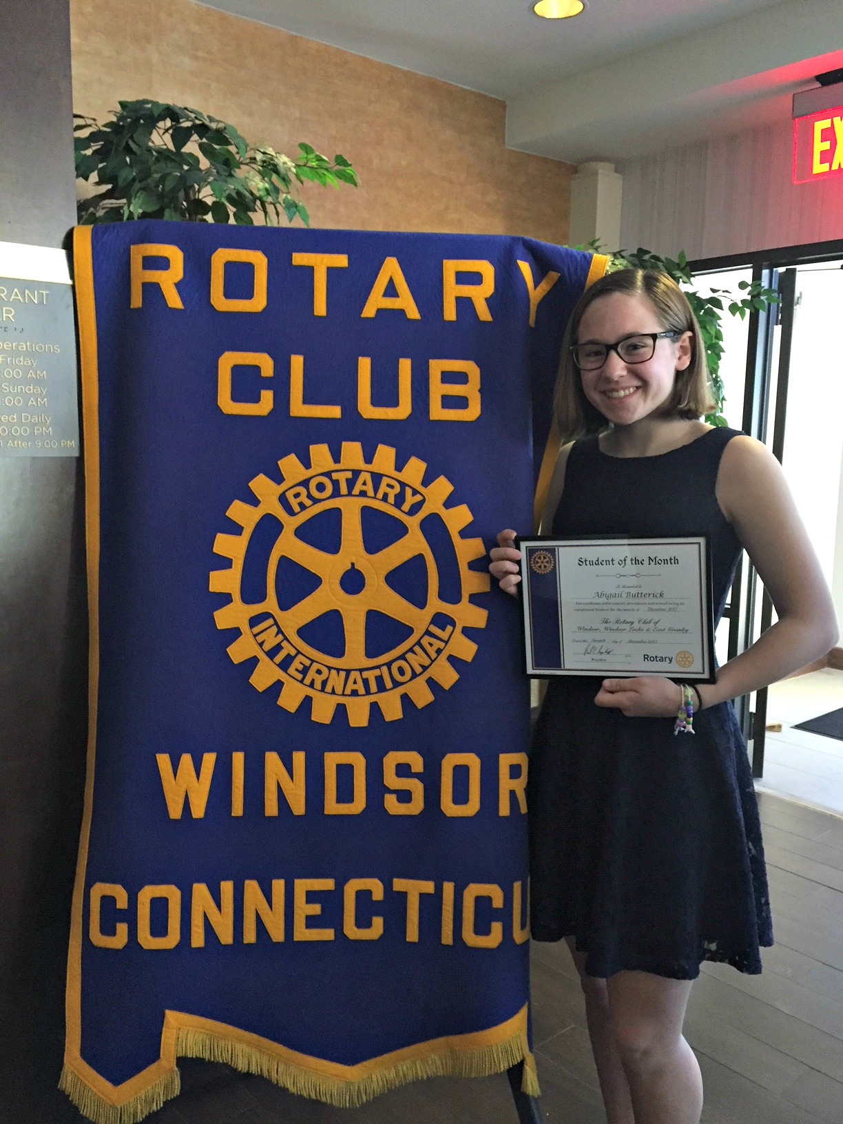 November Rotary Student of the Month