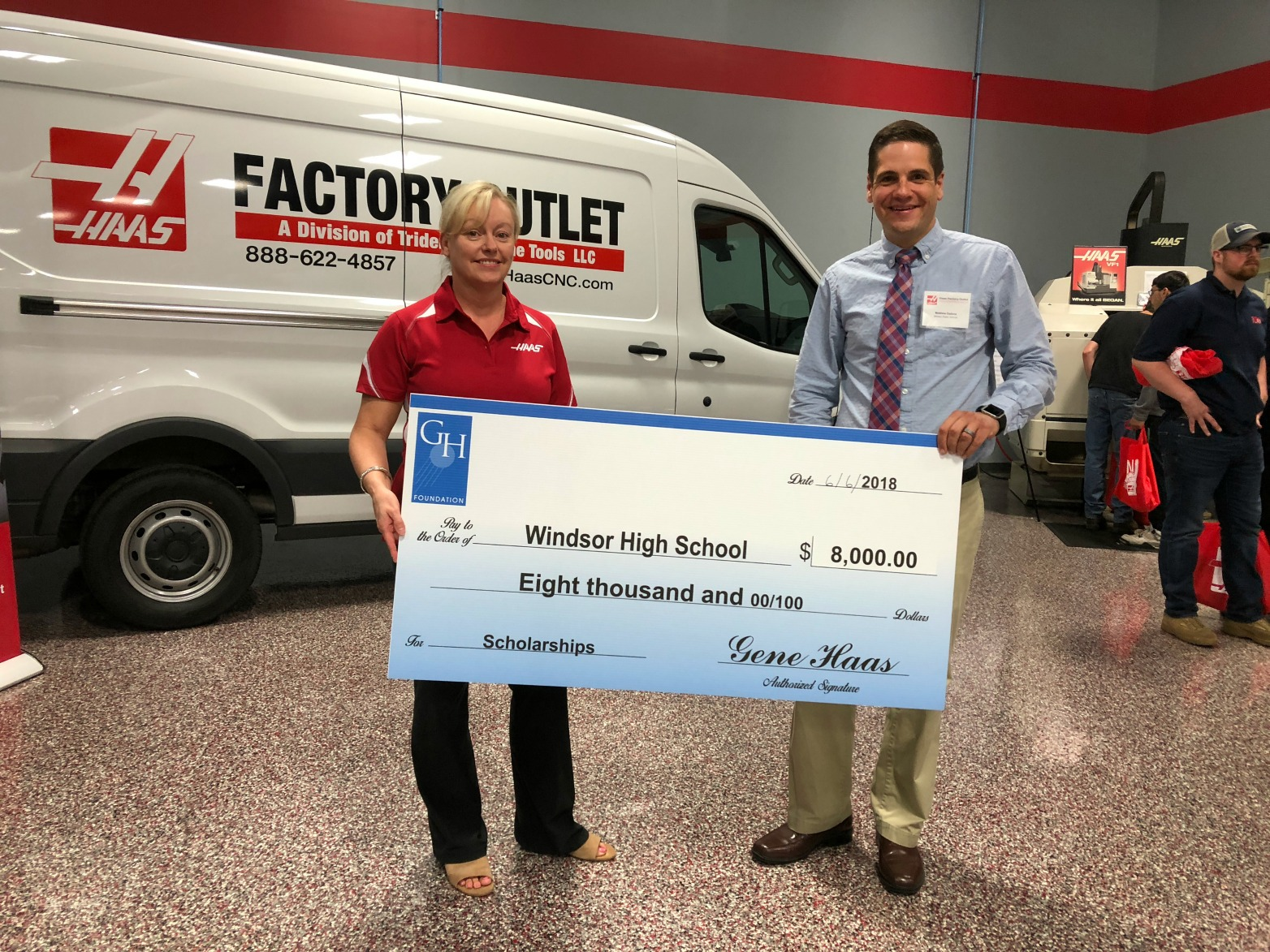 WHS Manufacturing Program Receives Grant from Gene Haas Foundation