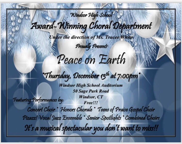 WHS Award-Winning Choral Department Proudly Presents Peace on Earth - December 13