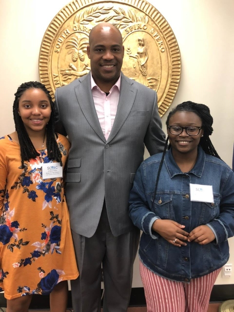 Students and Mrs. Rapp attend Legislative Black Caucus!