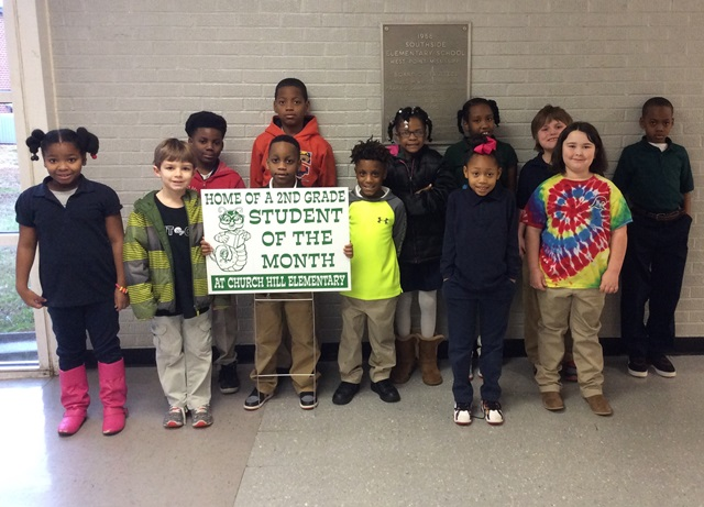 Church Hill Students of the Month for January