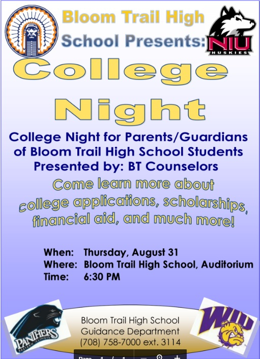 Bloom Trail College Night