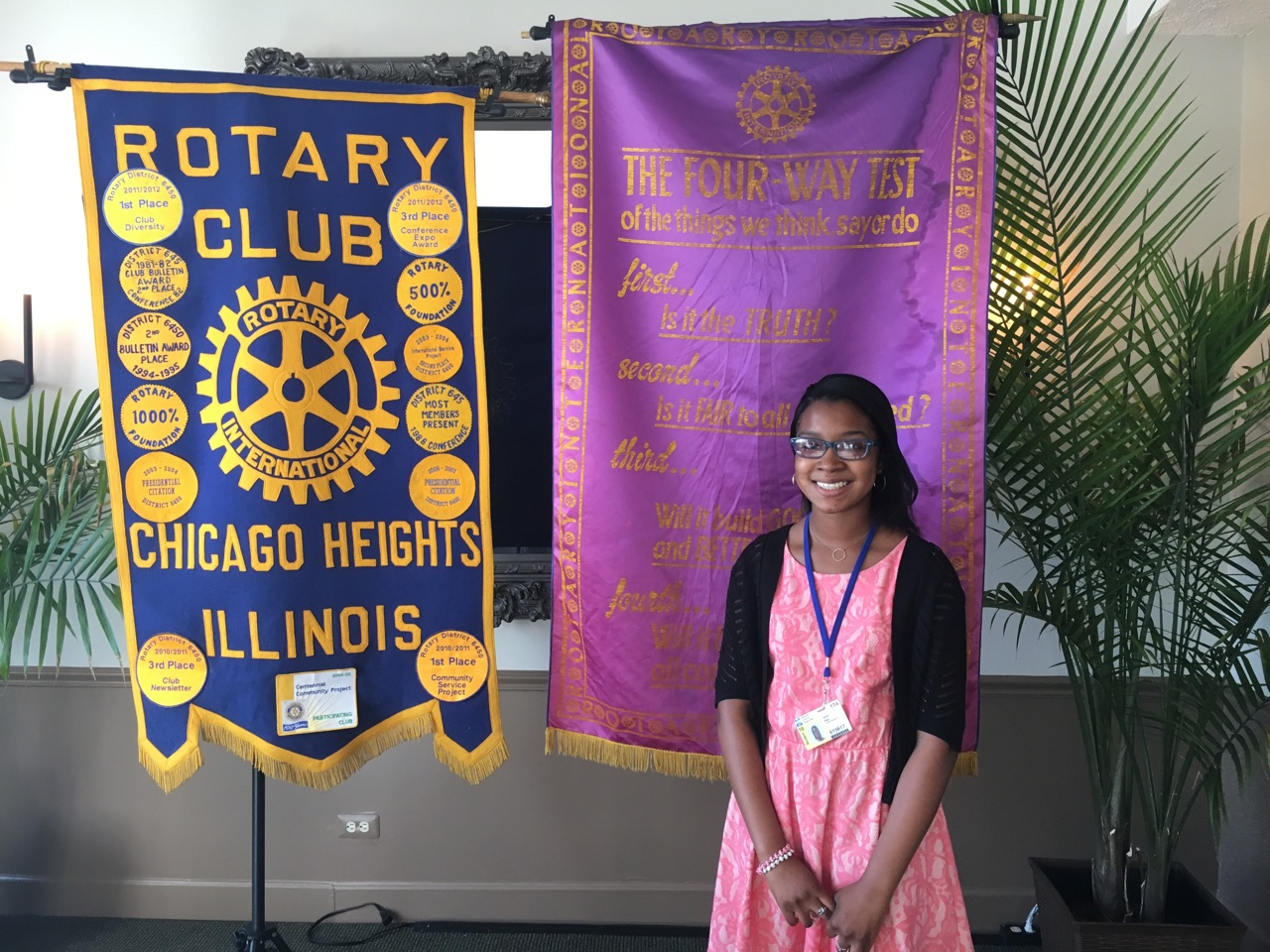Chicago Heights Rotary Club: November Student of the Month