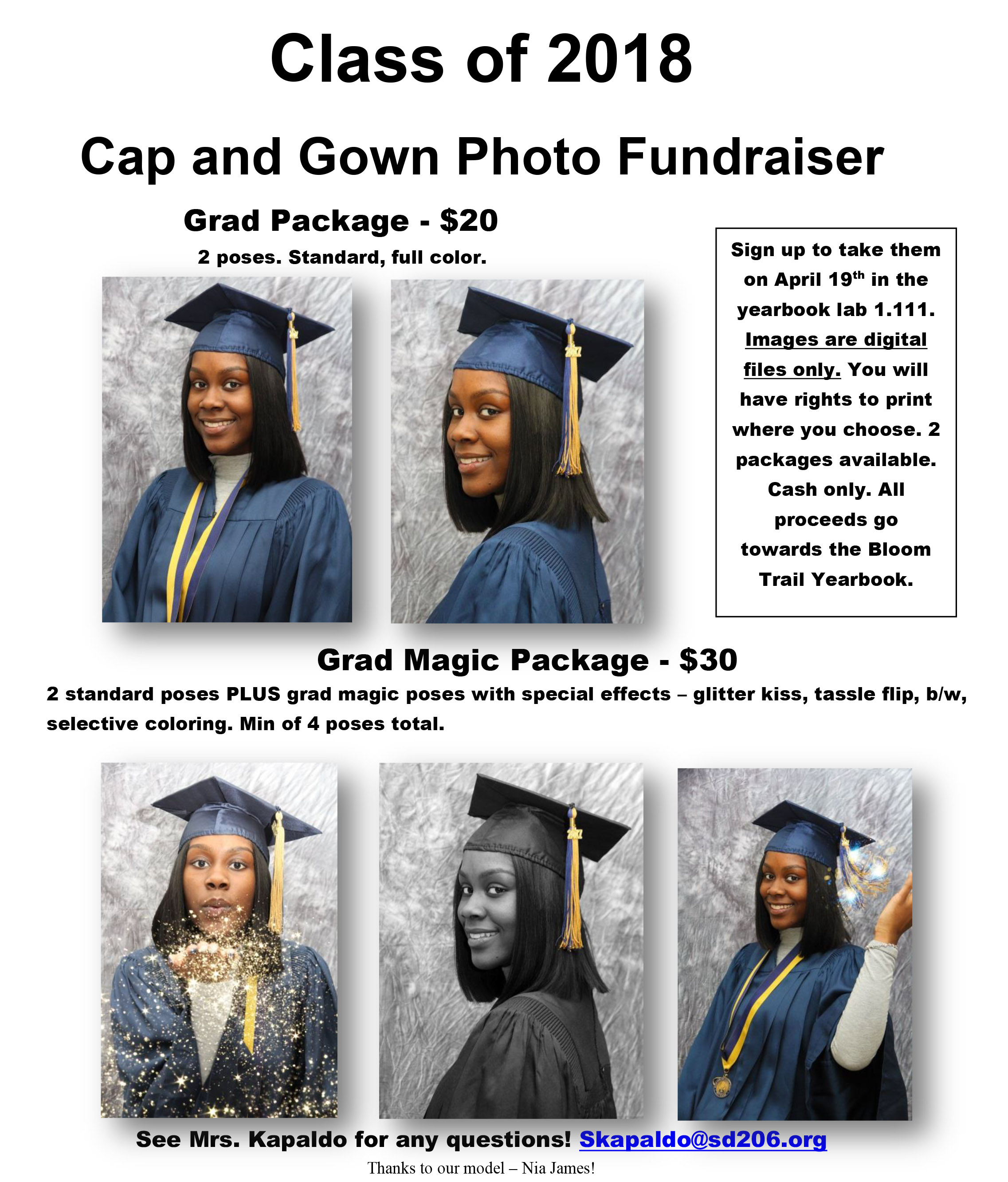Cap & Gown Photo Fundraiser