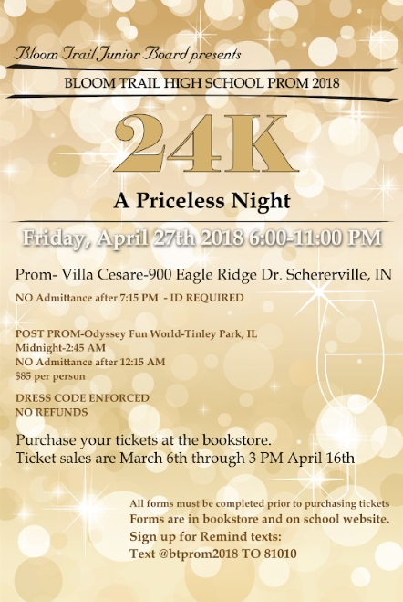 Click for All Your Prom 2018 Info