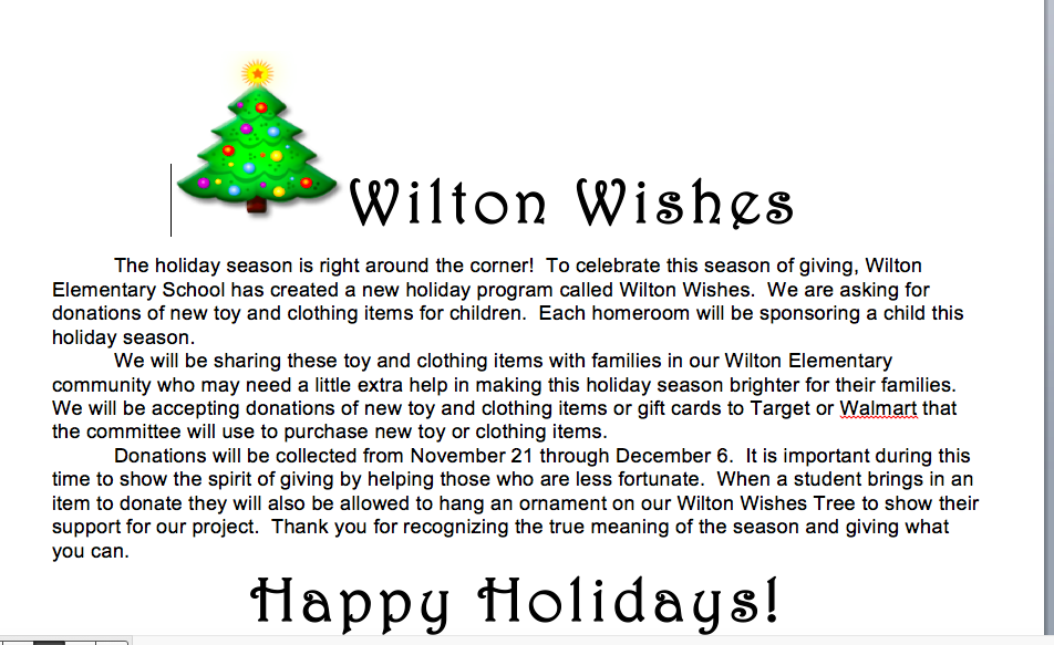Wilton Wishes