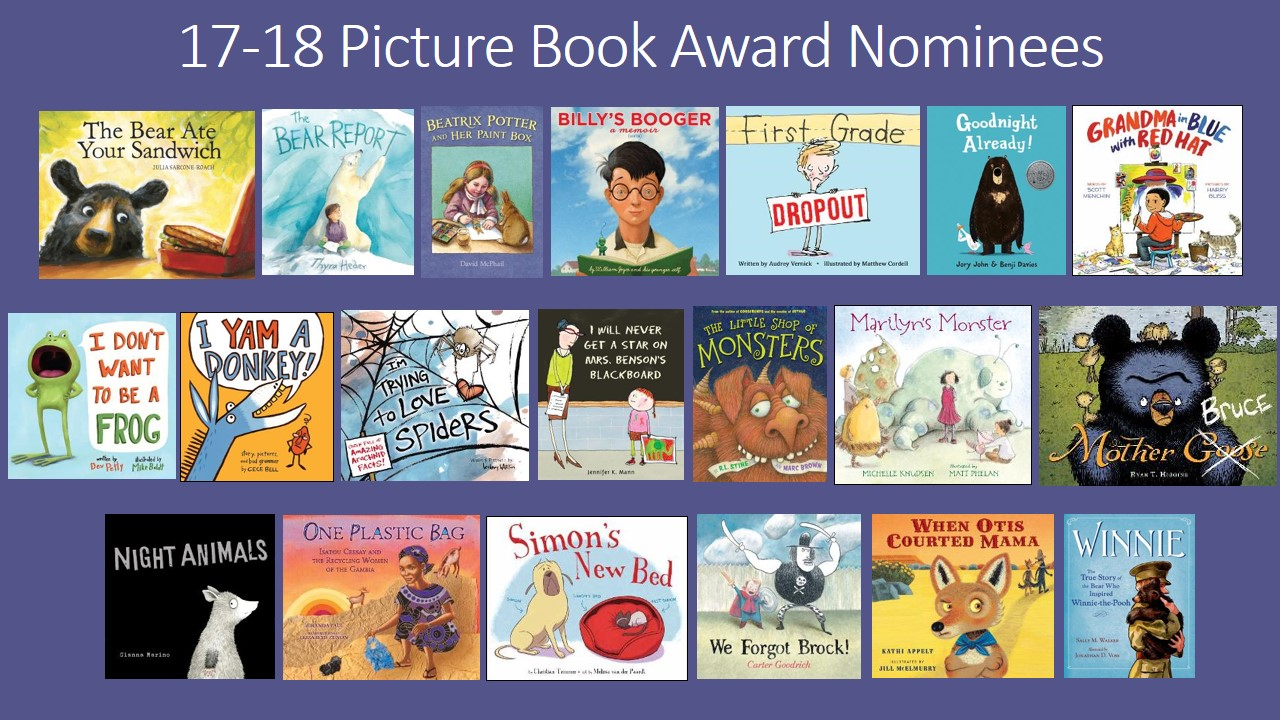 2017 SC Picture Book Award nominees