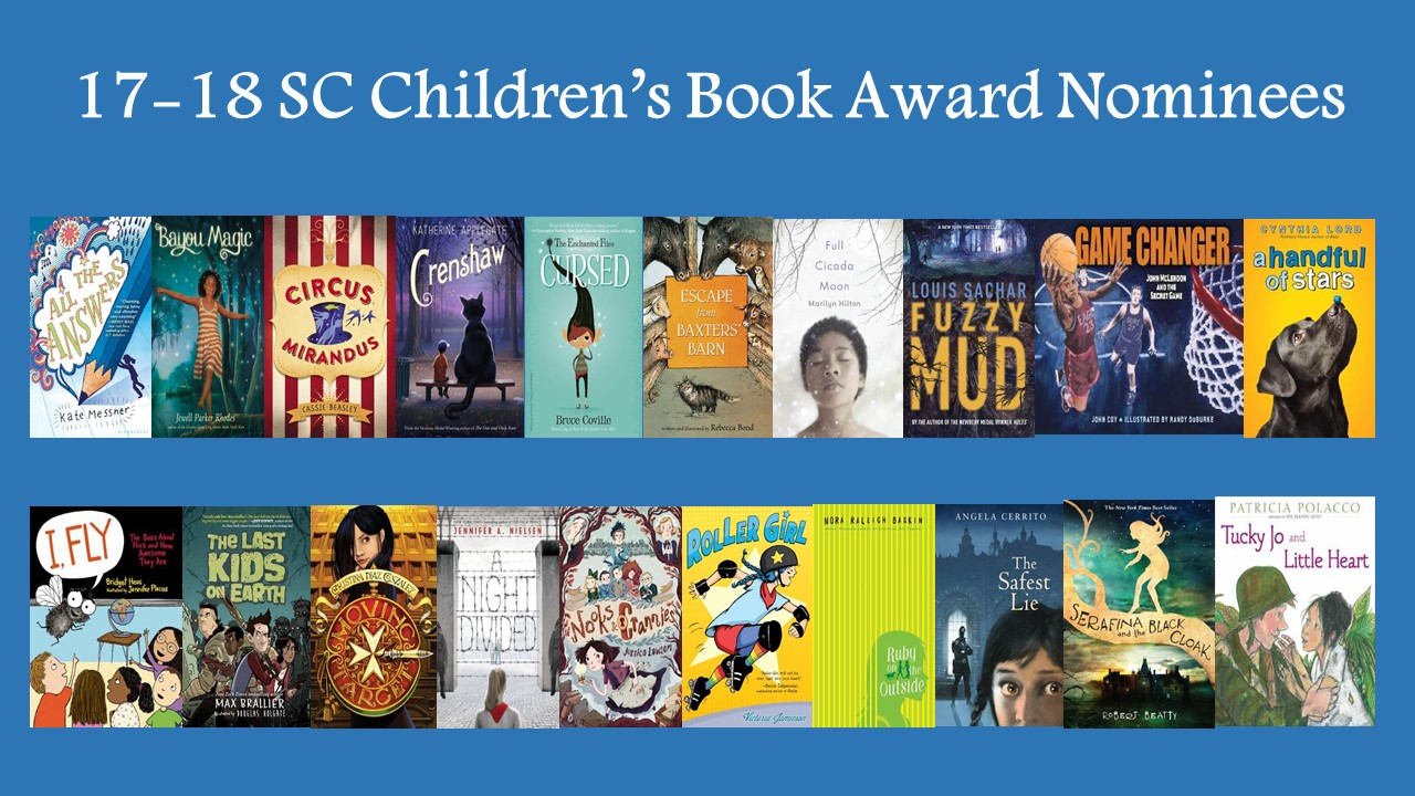 2017 SC Children's Book Award nominees