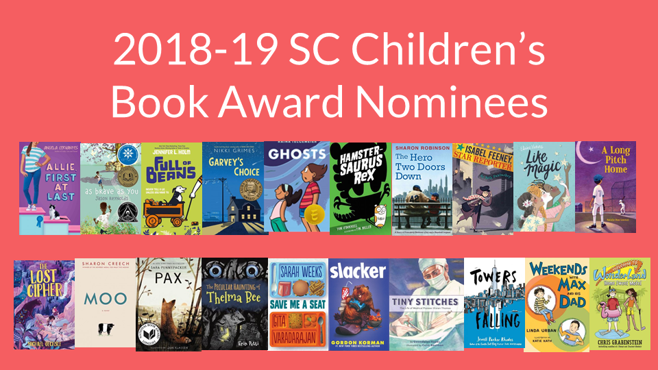 2018 SC Children's Book Award nominees