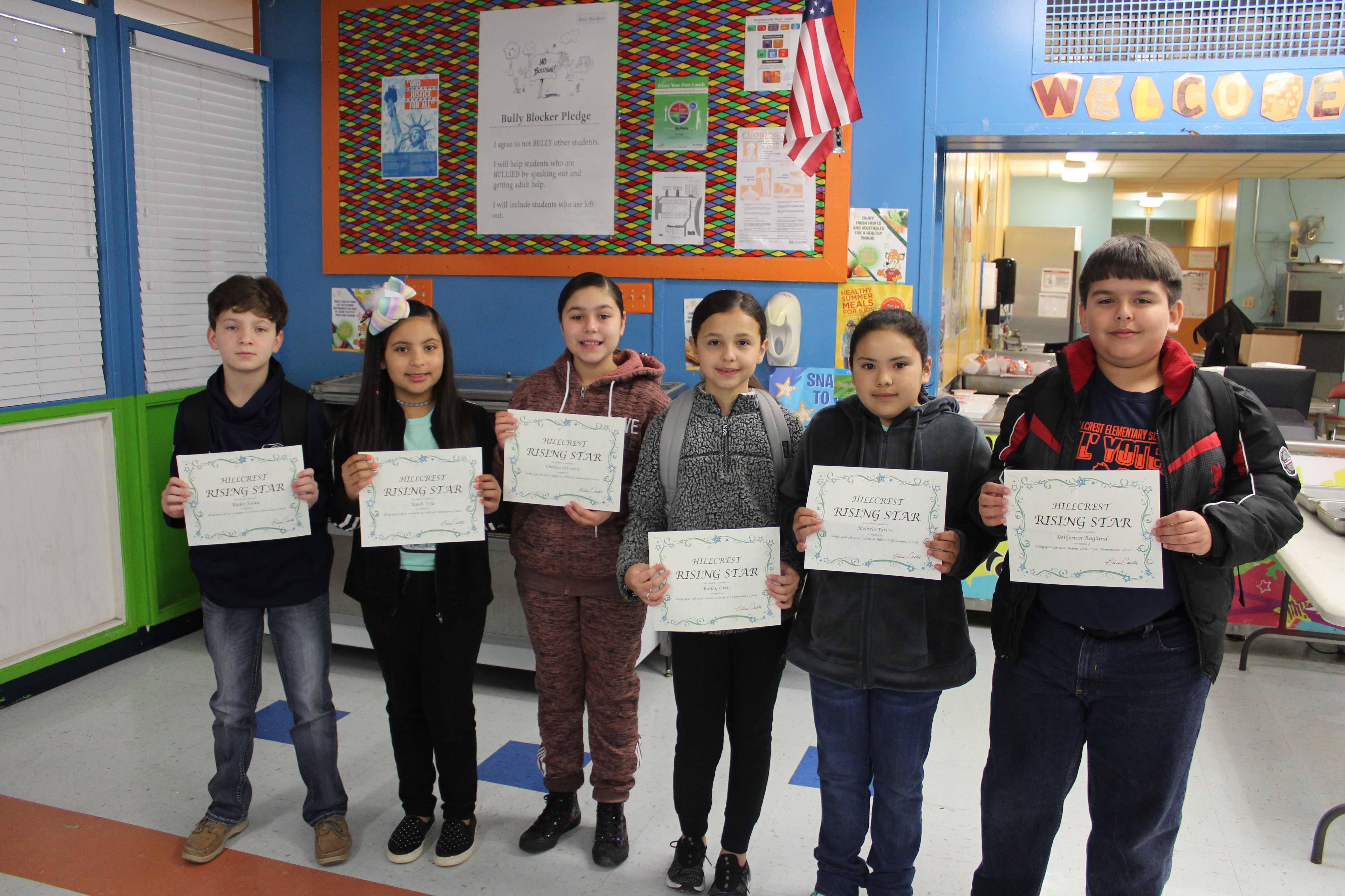 2/8/19 4th Grade Rising Star Students