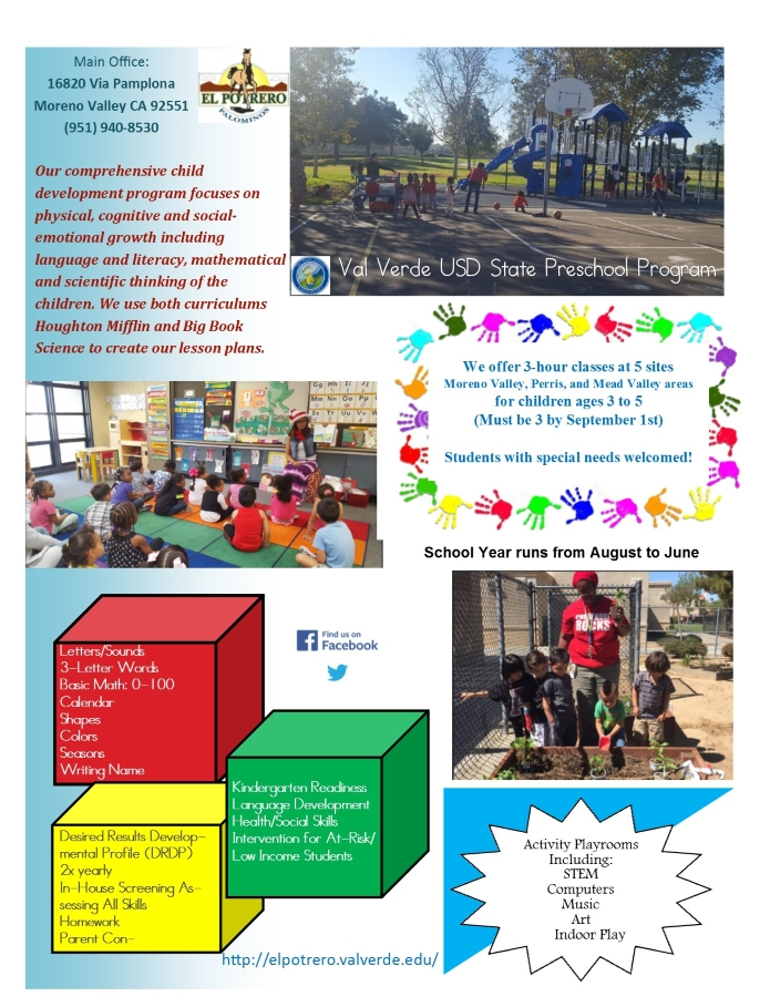 Val Verde USD State Preschool Program