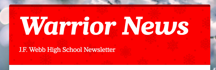 Warrior Student Newsletter