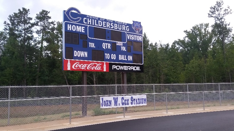 SCORE-The new scoreboard at the new stadium