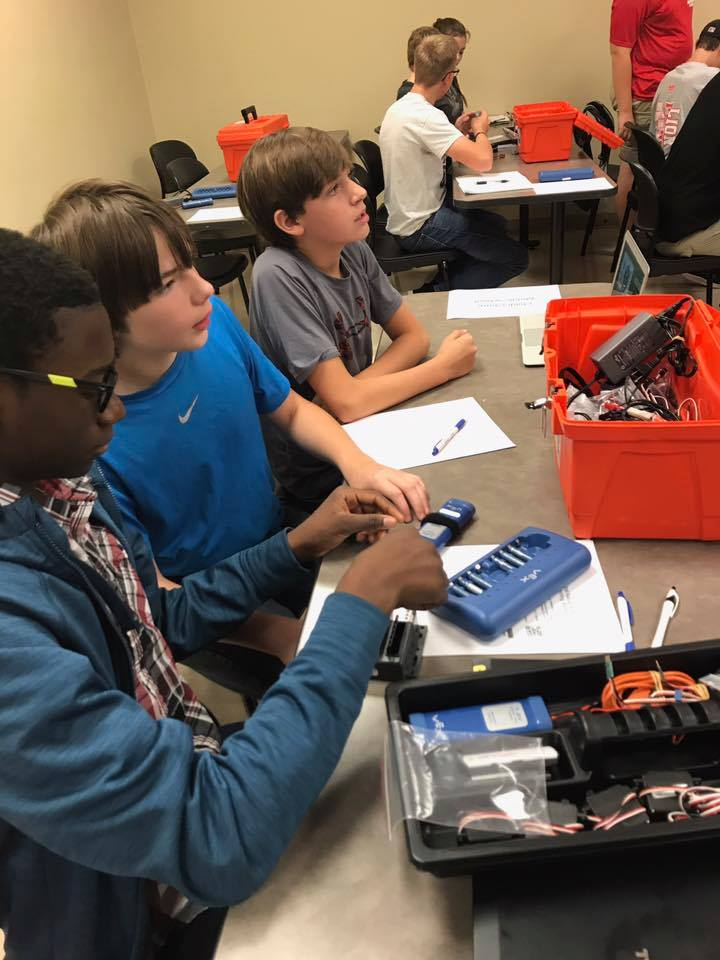 Several CMS students participated in the Central Alabama BEST Robotics EasyC programming workshop this weekend, hosted by CACC.